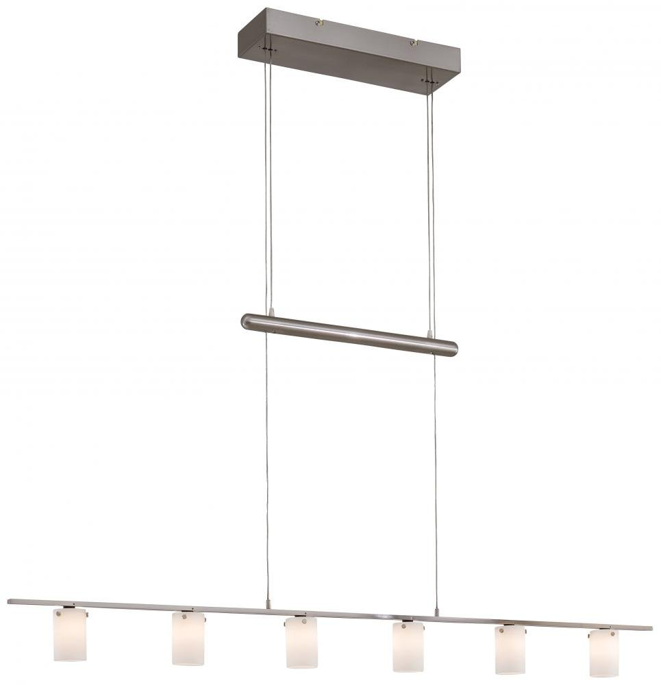 George kovacs p8027 084 counter weights 6 light chandelier george kovacs p8027 084 counter weights 6 light chandelier brushed nickel chandeliers amazon arubaitofo Choice Image