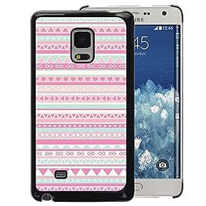 A-type Arte & diseño plástico duro Fundas Cover Cubre Hard Case Cover para Samsung Galaxy Mega 5.8 (Pattern Native American Folk Pink)