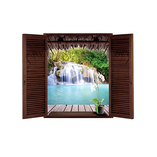 MagiDeal Waterfall Window Removable Sticker