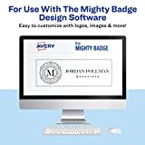 """The Mighty Badge by Avery, 1"""" x 3"""" Inserts for Name Tags, 100 Clear Inserts for Laser Printers Only"""