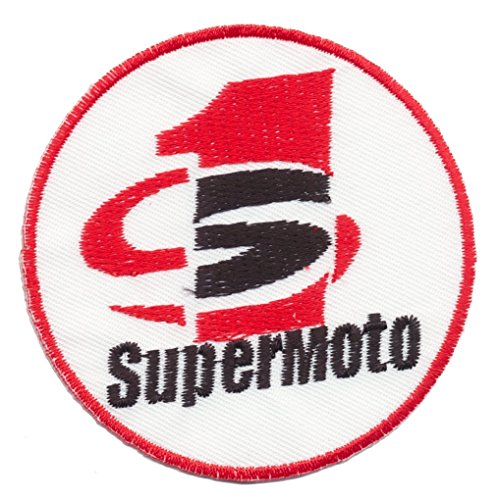 Supermoto Motorrad SuMo Racing Supermotard iron sew on patches Logo Vest Jacket Hat Hoodie Backpack Iron On patches (Jacket Supermoto)