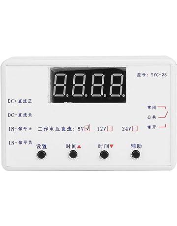 YYC-2S Relé Temporizador, Pantalla LED Regulador Temporizador Ajustable Automatización Interruptor de Control para