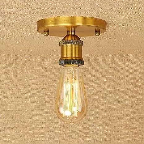 Loft Americana Creativa hierro Lámpara de techo Lámparas de ...