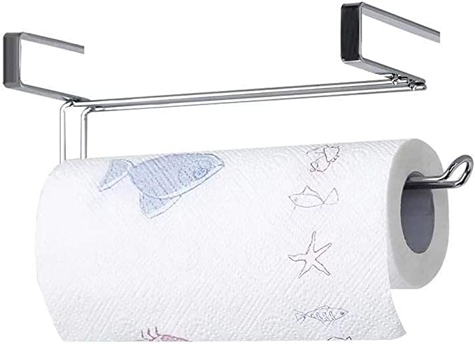 Metal shelf in the Cabinet Fabric Coat Hangers Paper-Bar Towel Holder