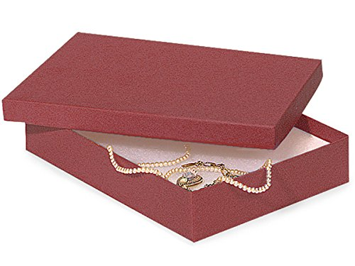 7x5x1-1/4'' Merlot Eco Tone Recycled Jewelry Boxes (Unit Pack - 100)