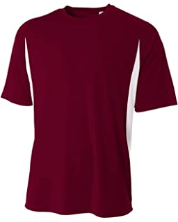 9177b45b A4 Men's High-Performance Moisture-Wicking Color Block T-Shirt | Cooling Dry