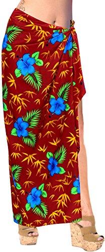 pareo beachwear traje de baño traje de baño cubrir mujeres de la falda pareo Rojo