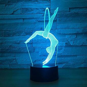 La 3d Lampe Gymnastique Led D'art Fissen D'illusion Optique 0Ok8PNnwXZ