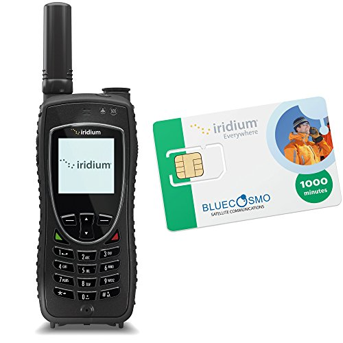 BlueCosmo Iridium Extreme Satellite Phone Kit & 1000 Minute 2 Year Global Prepaid SIM by BlueCosmo
