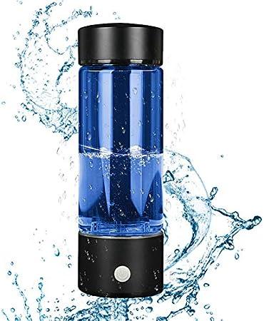 TOPQSC Lonizzatore per Acqua Ricca di idrogeno,USB Ricaricabile Portatile Tazza Ricca di Idrogeno 380ml Tecnologia SPE//PEM Idrogeno Ricca Lonizzatore Trasparente Alta capacit/à della Bottiglia di Acqua