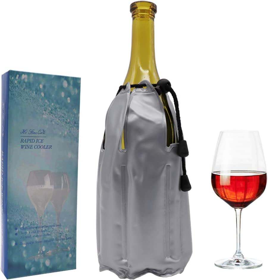 Rapid Ice Wine Cooler, Gel Wine Bottle Chill Cooler Ice Pack - Freezer Sleeve- Vodka- Tequila Chiller- Cooler- Carrier (Type F)