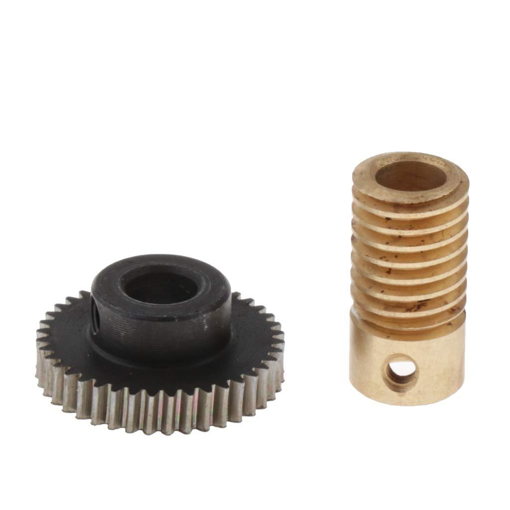 Agujero 3.175 mm Shiwaki 0.5 Modulus Worm Wheel Gear Shaft Hole 3.175-6mm 1:40 Reduction Ratio Gear