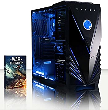 VIBOX Scorpius 16 Gaming PC con juegos War Thunder, 4 Ghz AMD FX Quad Core Procesador, NVIDIA GeForce GTX 750 Ti tarjeta gráfica, 2TB HDD, 8 GB RAM, ...