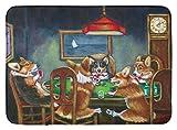 Caroline's Treasures 7416RUG ''Corgi Playing Poker'' Floor Mat, 19'' x 27'', Multicolor