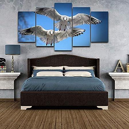 mmwin HD Wall Art Modular Impreso Moderno 5 Panel Pájaros ...