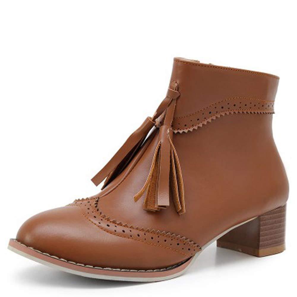 CITW Herbstliche Damenstiefel Brüten Retro-Damen Stiefelies Große Damenstiefel Mit Retro-Damen Brüten Stiefeln Mode Stiefel,braun,UK1 EUR35 7ab7a3