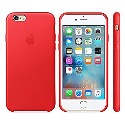 Apple Authentic Leather Case for iPhone 6 and iPhone 6s - Red (Certified Refurbished)