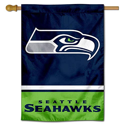 WinCraft Seattle Seahawks Two Sided House Flag -