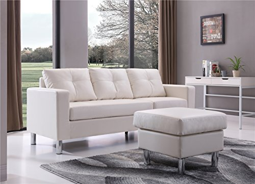 Braxton 73030 40wh Small Space Convertible Sectional Sofa