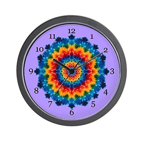 CafePress – Rainbow Mandala Tie-dye Wall Clock – Unique Decorative 10″ Wall Clock For Sale