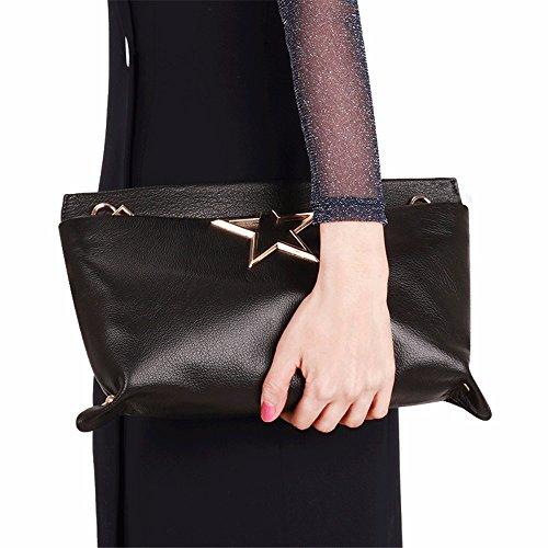 pochette épaule nouvelles de cuir sac Black en femmes diagonal gueules est les sac mode pIRHq