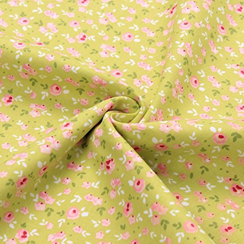 2pcs/lot 40x50cm Cotton Fabric Sewing Quilting Patchwork quilts (Green)]()