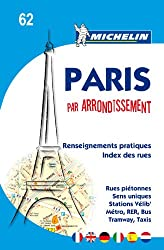 Michelin Map Paris by Arrondissements (saddle-stitched) No. 62 (Maps/City (Michelin))