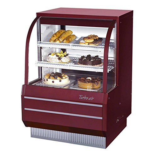 "Turbo Air (TCGB-36-DR) - 36"" Curved Glass Non-Refrigerated Dry Bakery Display Case"