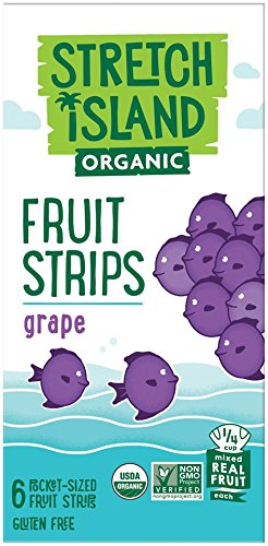 Stretch Island Grape Company Organic Fruit Strips, 2.96 Ounce