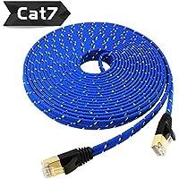 Nylon Cat 7 Ethernet Cable 30Ft, Tanbin Cat7 RJ45 Network...