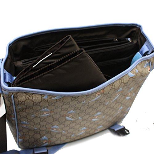5ec6ef92970 Gucci  GG  Supreme Canvas Zoo Birds Print Baby Diaper Bag 270794 ...