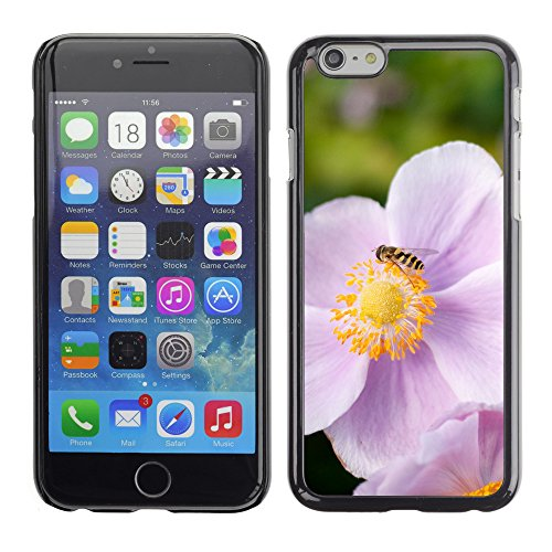 Premio Sottile Slim Cassa Custodia Case Cover Shell // V00003450 syrphe sur une fleur rose // Apple iPhone 6 6S 6G 4.7""