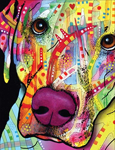 Dean Russo Labrador Journal: Lined Journal (Quiet Fox Designs) 144 High-Quality, Acid-Free Lined Pages for a Dream Diary or Journaling, with Vibrant Cover Art from Brooklyn Pop Artist Dean Russo