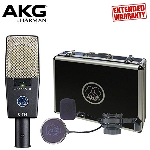 Used, AKG C414 XLS Large-diaphragm Condenser Microphone with for sale  Delivered anywhere in USA