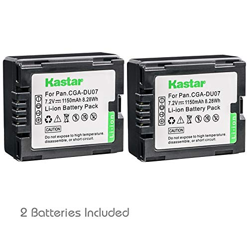 Cga Du14 Compatible Battery - Kastar 2 Pack Battery for Panasonic CGR-DU06 CGR-DU07 CGA-DU14 CGA-DU07 CGA-DU06 CGR-DU21 CGR-DU21A RV-4401 RV-5401 Camcorder