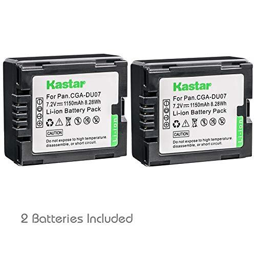 Kastar 2 Pack Battery for Panasonic CGR-DU06 CGR-DU07 CGA-DU14 CGA-DU07 CGA-DU06 CGR-DU21 CGR-DU21A RV-4401 RV-5401 Camcorder ()