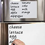 Myonly Dry Erase Magnetic WhiteBoard Fridge Sticker-Removable Message Board Decal Peel for School, Office, Home, Kids Drawing