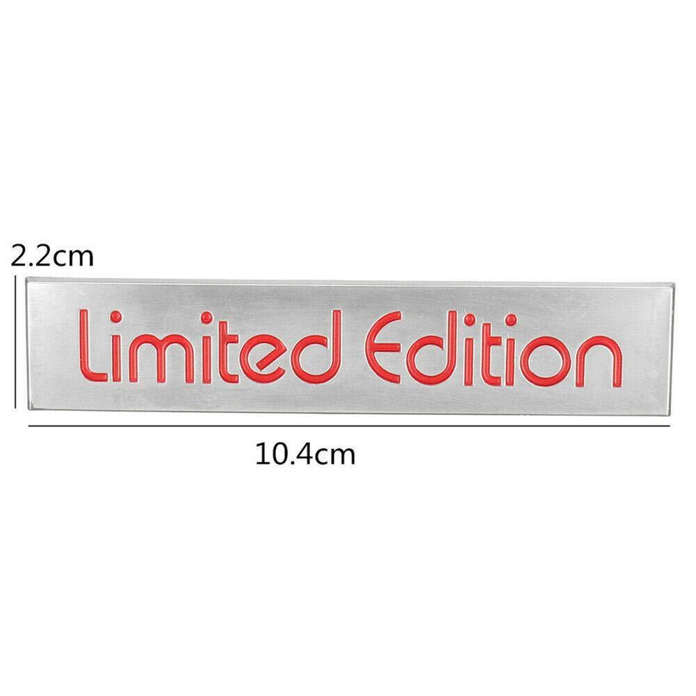 Szseven 3D Red Limited Edition Logo Distintivo Dellemblema in Metallo Adesivo Accessori Auto per Auto Adatta per Tutte Le Auto