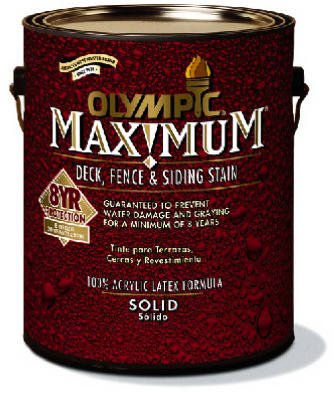 OLYMPIC/PPG ARCHITECTURAL FIN 79614A/01 Exterior, Acrylic, Solid Color, Navajo Red Maximum Deck, Fence & Siding Stain