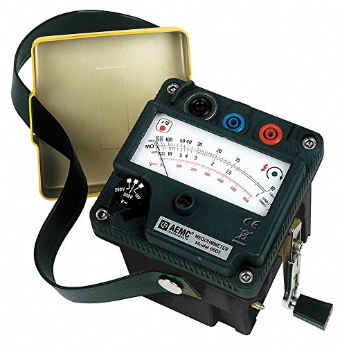 Analog Hand Cranked Megohmmeter; Insulation Resistance Range: 1 to 5000 megohm