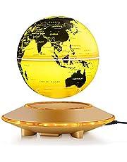 6'' Magnétique Globe Lévitation Flottant Rotation Carte du Monde Anti Gravité avec LED Lumière Cristal Platforme Décoration de la Maison Chambre Bureau Cadeau de Fête (Bleu Anglais)