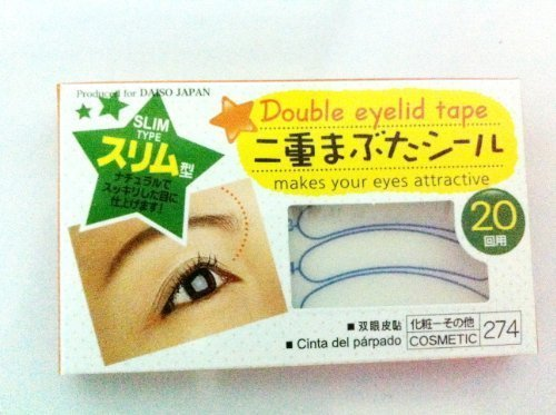 Double Eyelid Tape (Pack of 3 boxes ; total 60 pairs) , Slim Type , Makes your eyes attractive , Made in Korea , 20 pairs per box by Daiso Ind.