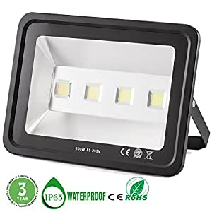 Outdoor LED Flood Light, 200W Super Bright Security Lights Daylight White IP65 Waterproof LED Lights, 6000K, 20000 Lumen Floodlights Gianor