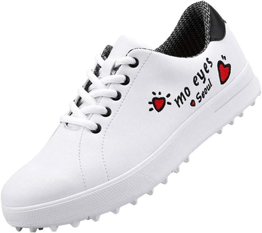 FJJLOVE Las Mujeres Zapatos De Golf, Spikeless Zapatilla De Cuero Superior Campo De La Zapatilla De Deporte De Malla Transpirable Recorrer Ocasional De Zapatos,35: Amazon.es: Hogar