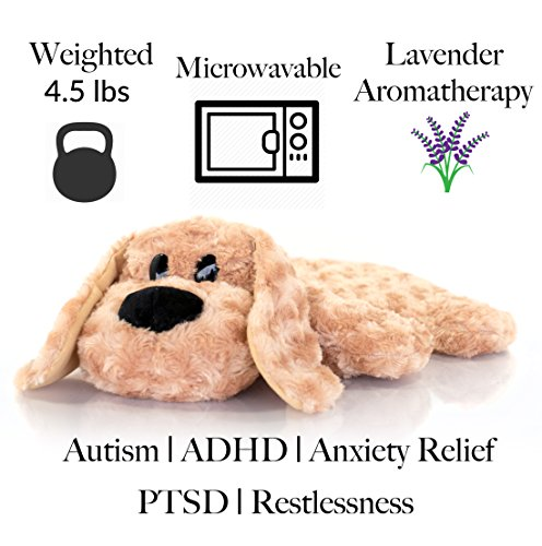 Weighted Lap Pad for Kids by Sootheze - 5 lbs Weighted Blanket - Washable - Great for Sensory Issues Such as ADHD, Autism, Anxiety, Stress - Drooper Sr. Stuffed Animal by Sootheze (Image #1)