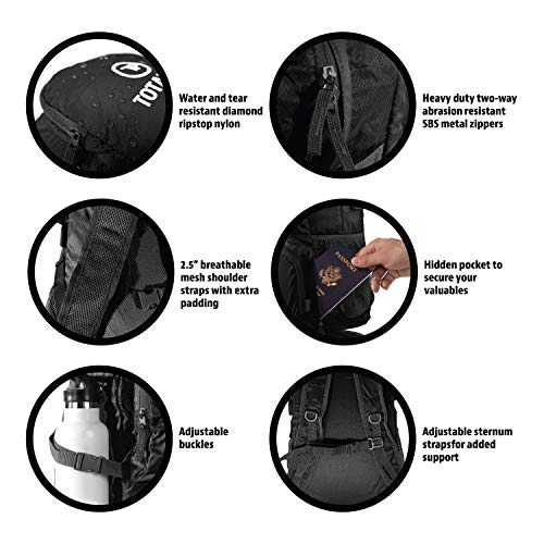 Totalpac Lightweight Foldable Packable Backpack Daypack - Perfect Traveling 8263f6b50c9a6