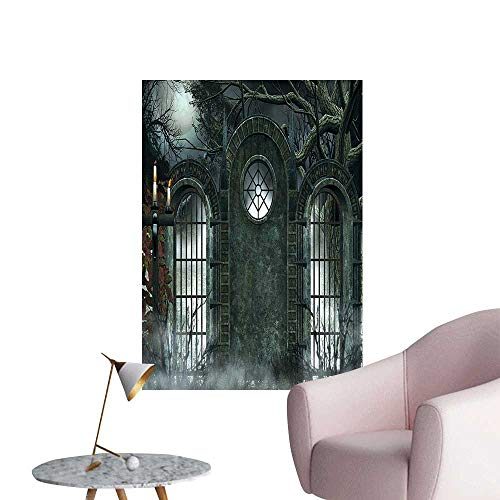 Wall Art Prints Mo Halloween Ancient Historical Gate Background C l Ficti View Gray for Living Room Ready to Stick on Wall,28