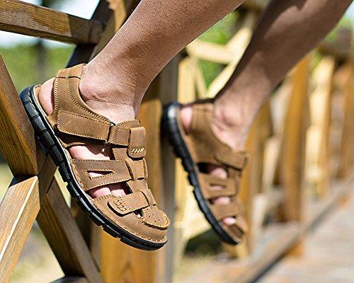 Sandali DianShaoA Arrampicata Marrone All'Aperto Chiaro Antiscivolo Punta Sandali Chiusa da Fisherman Sandalo Sportivi Uomo Escursionismo ZqOg1qrd