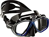 Cressi High Quality Diving/Snorkeling Action Mask with Action Cam Attack, Black/Blue, One Size