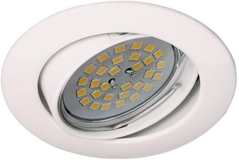 Wonderlamp Basic W-E000016 - Empotrable Blanco Basculante Aluminio, 220 V, Color Blanco